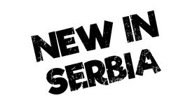 New In Serbia rubber stamp Royalty Free Stock Images