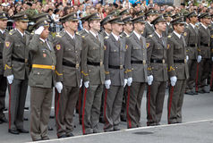 New Serbian officers-1 Stock Images