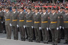 New Serbian officers Stock Image