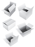 New set of boxes Royalty Free Stock Images