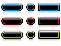 New set of buttons Royalty Free Stock Image