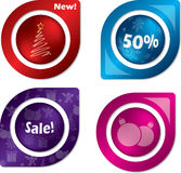 New set of christmas labels Stock Image