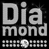 New set of diamond bold letters Stock Image