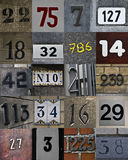 New set of house numbers. Background Royalty Free Stock Image