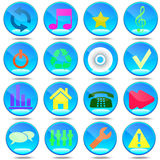 New set  most popular icons. Royalty Free Stock Photo