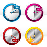 New set of timers. In different colors royalty free illustration