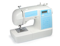 New Sewing Machine. New modern sewing machine isolated with clipping path over white background Stock Image