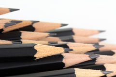 New sharp black pencils Royalty Free Stock Photography