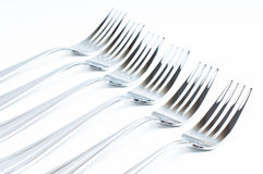 New shiny forks Stock Photo