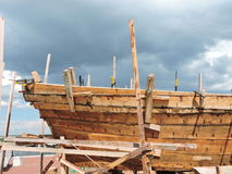 New ship construction, Lithuania Stock Photography