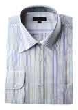 New Shirt. New cotton dress shirt with blue stripes Stock Photography
