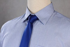 New shirt with necktie, studio shot. New blue shirt with necktie, studio shot Stock Photography
