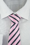 New shirt with striped silk necktie Stock Images