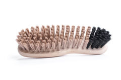 New shoe brush on white background Stock Photos