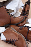 New shoes and boots Royalty Free Stock Photo