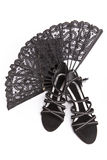 New shoes And evening handbag and fan Stock Image