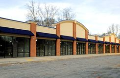 New Shopping Center. In final phase of construction Stock Photos