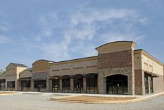 New Shopping Center. In final phase on construction Stock Image