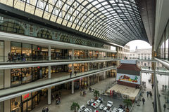 The new shopping center Mall of Berlin. BERLIN - NOVEMBER 30, 2015: The new shopping center Mall of Berlin at Potsdamer Platz Stock Photos
