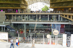 New shopping and entertainment center Les Halles in Paris 09.06. Royalty Free Stock Photography