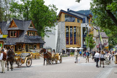 New Shopping Gallery in Zakopane Stock Photography