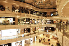 New shopping mall in shanghai. The most luxurious shopping mall of china -  IFC mall Royalty Free Stock Photos