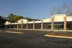 New Shopping Plaza. Ready for occupancy Royalty Free Stock Photography