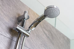 New shower in bathroom. Without water Royalty Free Stock Images