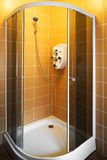 New shower cubicle. New beautiful shower cubicle in a modern bathroom Royalty Free Stock Image