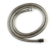 New shower hose. On a white background royalty free stock photos