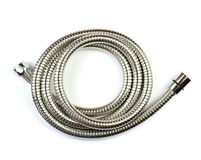 New shower hose. On a white background royalty free stock image