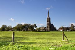 The New Siant Victor church. In the Dutch village Batenburg Royalty Free Stock Image