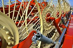 New side wheel delivery rake Stock Image