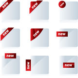 New sign. Vector label set Stock Photo