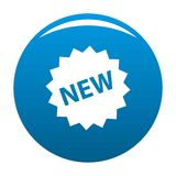 New sign icon blue vector Stock Photography