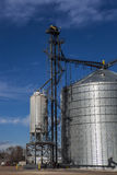 New Silo. A new silo has been set up at a granary Stock Image
