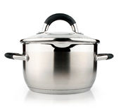 New silver pan isolated on white Royalty Free Stock Image