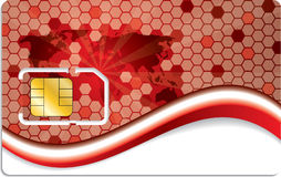 New sim card design with world map Stock Photography