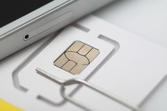 New sim card format nano micro and standard. Sim card format nano micro and standard Stock Photo