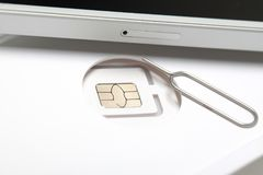 New sim card format nano micro and standard. Sim card format nano micro and standard Royalty Free Stock Photos