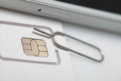 New sim card format nano micro and standard. Sim card format nano micro and standard Stock Photography