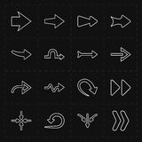 16 new simple arrows. This is a vector illustration of 16 new simple arrows royalty free illustration