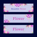 New Simple Flower Banners royalty free stock photography