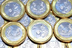 New Singapore coins royalty free stock photo