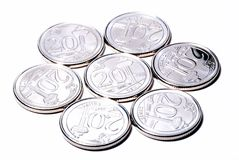 New Singapore Coins Stock Images