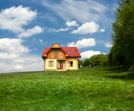 New single family house. New single house and clean environment Royalty Free Stock Images