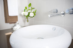 New sink and faucet Royalty Free Stock Photography