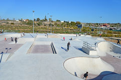A New Skate Park Opens - Urban Sport Facilities Stock Photography