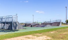New Skateboard Park Montgomery, Alabama Royalty Free Stock Photos