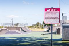 New Skateboard Park Montgomery, Alabama Royalty Free Stock Image